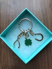 Very Rare !! Tiffany & CO. Keychain Charm Clover Accessory for Woman Unused 2008