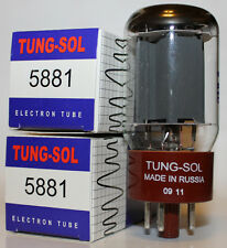 Matched Pair of Tung Sol 5881 Reissue amp tubes, Brand NEW !