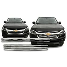 Chrome Grille Overlay Kit FITS 2015 2016 '15 '16 Chevy Colorado LT / WT Only!