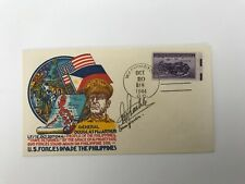 S3 WWII First Day Cover General MacArthur October 20 1944 Signed by Staehle RARE