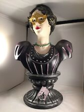 Moonlight Manor Halloween Haunted Victorian Woman With Mansion Mask Bust New