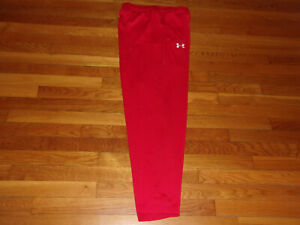 NEW UNDER ARMOUR RED LOOSE ATHLETIC PANTS MENS MEDIUM