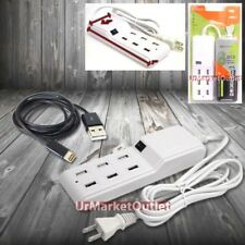 6FT Cable 6xUSB Socket Port Output Power Adapter For Apple iPadMini iphone5/6/6+