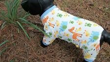 "dog pajamas,cozy cotton, ""Favorite Animals"", XS **(read details for size)"