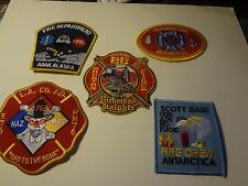 5 USA. ASSTD. FIRE DEPT./STATION PATCHES - ALL IN NEW COND. AWESOME DETAIL 988