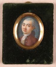 "Jean-Alexis Cornu (1755-1807) ""Portrait of a young gentleman"", fine miniature"