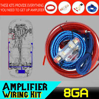 1500W Car Amplifier Wiring Kit Audio Subwoofer AMP RCA Power Cable 8 Gauge FUSE