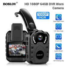 1080P 64G Body Worn Camera Waterproof IR for Security Guard Body Mounted Camera