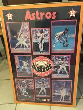 VINTAGE Starline MLB Baseball TEAM Poster HOUSTON ASTROS 1987 Ryan Cruz