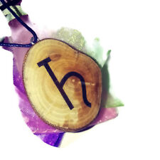 Saturn Necklace Handmade Wood Charm Brown Eco Pendant Celestial Symbol Gift