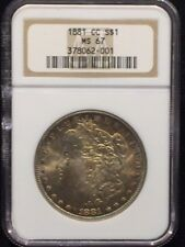 1881 CC  $1 Morgan Silver Dollar NGC MS 67