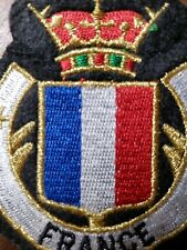 France Flag Shield Crest Patch Embroidered Iron On Sew On French Ag