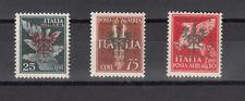 OCCUPAZIONE TEDESCA - LUBIANA LAIBACH 1944 serie IMPERIALE SERIETTA  3 V. MNH**