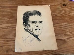 Johnny Cash Signed (Twice!) Show Souvenir Picture and Song Book