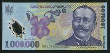 u824 ROMANIA 1000000 LEI 2003 P#116 POLYMER NOTE * Z * serial UNC