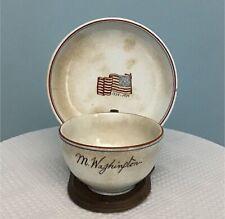 Rare 1776-1876 Centennial Pottery Tea Cup Bearing Martha Washington's Signature