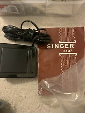 Vintage Singer 5107 Sewing Machine Instruction Manual & Foot Control Pedal
