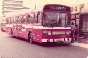 BUS PHOTO NATIONAL WELSH LEYLAND NATIONAL PHOTOGRAPH N3977 PIC SKG912S CARDIFF.