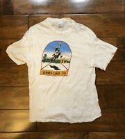Vintage 1984 Summer Games White T Shirt Mens Size XL Single Stitch Hanes