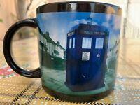 Dr. Who BBC Heat Reactive Disappearing Tardis Mug. Large Size. 2015