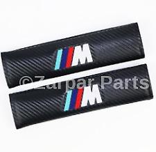 For BMW M-Power Carbon Fiber Car Seat Belt Shoulder Pads Covers Cushion 2Pcs