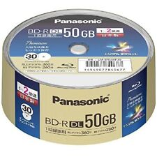 Panasonic  Blu-ray 50GB 2X BD-R DL 30discsTriple Tough Coat Made in Japan