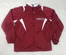 Xara Youth Girls Soccer Light Weight Jacket Large Red White