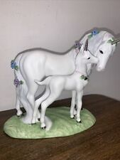 Love's Devotion Mother & Baby Unicorn Princeton Gallery Porcelain Figurine 1990