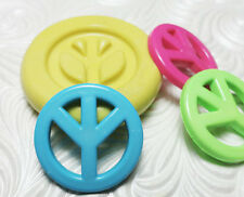 Silcone Resin Polymer Clay Fondant Flexible Push Mold PEACE SIGN 5227