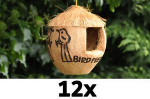 job lot of 12 bird feeder coconut bird feeder wild bird food feeders