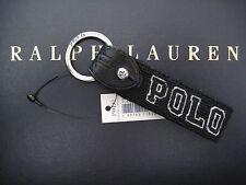 Polo RALPH LAUREN Black Wool Needlepoint POLO FOB Key Chain Keychain Keyring