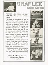 1910s Original Vintage Graflex Camera Photo Print Ad c
