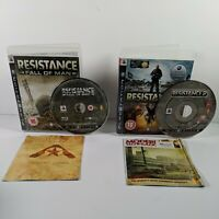 Resistance 1 Fall of Man & 2 Sony Playstation 3 (PS3) Complete Very Good Cond