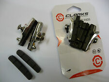2 Pair Clarks ROAD Brake Blocks Pads Shoes Bicycle Bike Racing Caliper CHROME
