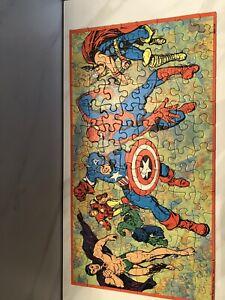 Marvel Super Heros Vintage 1967 Milton Bradley Puzzle ***rare***
