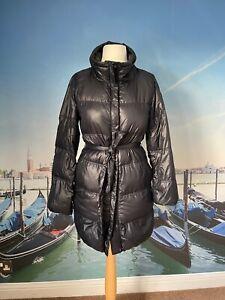 GAP dark navy belted puffer jacket size XS UK 8