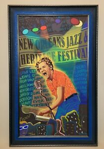 Jerry Lee Lewis 2007 New Orleans Jazz & Heritage Poster C-Marque Limited 116/300