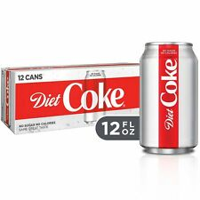(2 Pack) Diet Coke Soda Soft Drink, 12 fl oz, (12 Cans)