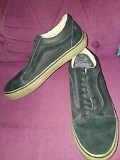 VANS LEATHER AND FABRIC BLACK LACE UP TRAINERS SIZE 9 EU 43 - NEW
