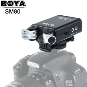 BOYA BY-SM80 Audio Recorder Mini Stereo Vdieo Microphone Fr SLR Camera Camcorder