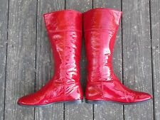 Women's Gianni Bini Red Patent Leather Boots Rock On 9 M
