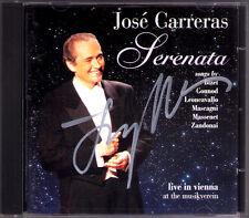 Jose Carreras firmato serenata Vienna 1994 Gounod Bizet MASCAGNI Massenet CD