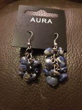 Aura Blue Gemstone Earrings