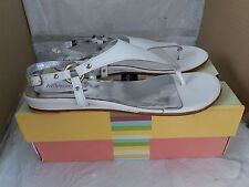 LES TROPEZIENNES 'Hifocal' White Patent LEATHER SANDALS - SIZE 40/UK 6.5