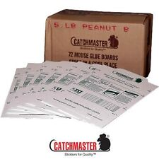 72 Catchmaster Mouse Glue Board Traps Peanut Butter Mice Insects Spiders etc....