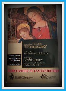 Saint Marin 2 Euro 2013 500e anniversaire de la mort du peintre Pinturicchio