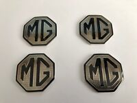 MGF MG TF LE500 Alloy Wheel Hub Cap Centre Badges Black & Silver 45mm Badge