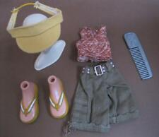 "Bratz 10"" Boyz Boy Doll Outfit Clothes/Shoes-sun kissed summer shorts visor hat"