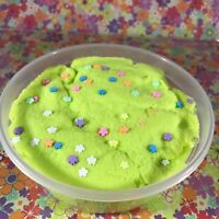 "Cloud SLIME ""Flower Power"" Sprinkles Soft Green Snow Scented 2 4 6 8 12oz"