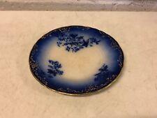 Antique LaBelle China Porcelain Wheeling Pottery Blue Floral Plate